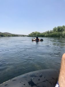 Kid in the river